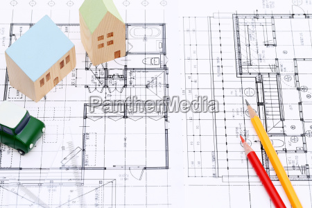 model house blueprints construction plan building