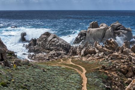 waves pounding the coastline at capo