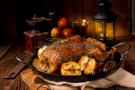duck on old polish roasted with