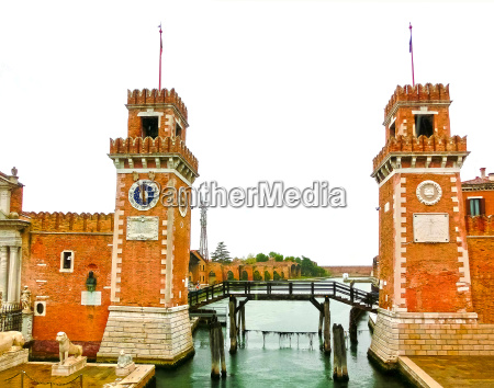 entrance of the arsenale venice italy