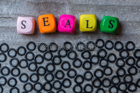 seals letter cubes and seals on