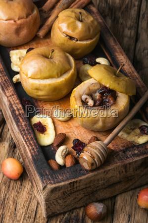 autumn apples baked