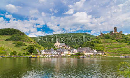 view of beilstein on the moselle