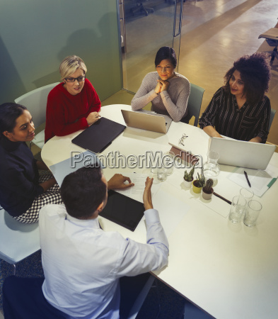 business people talking working in conference