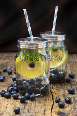 two glasses of infused water with