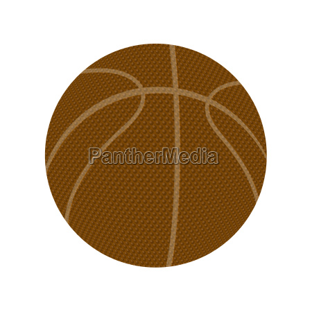 basketball orange icon isolated on white