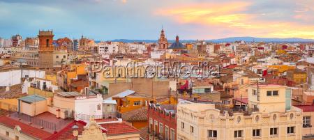 panorama of valencia spain