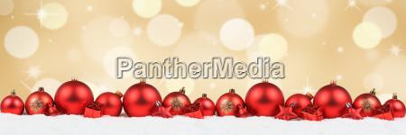 christmas red christmas balls banner decoration