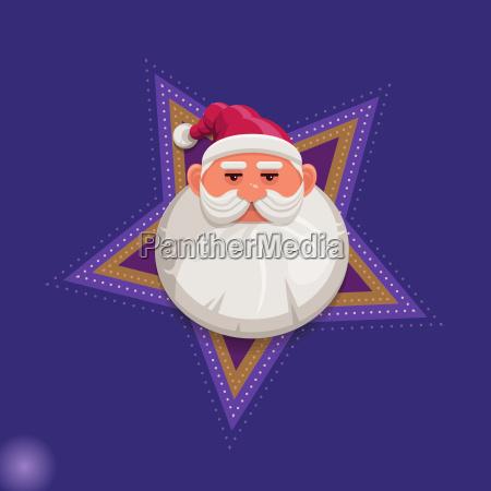 cartoon santa claus portrait