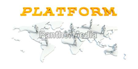 platform concept with business team