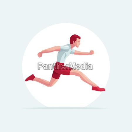 runner man vector illustration