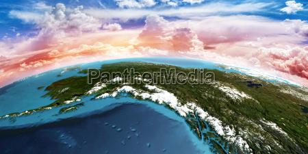 alaska 3d rendering