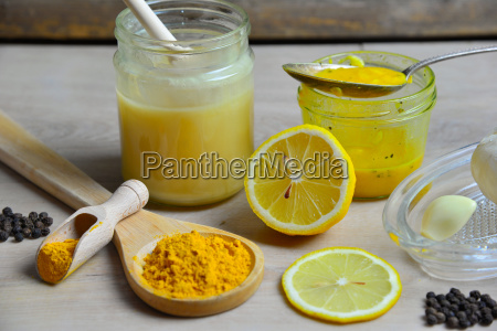 homemade natural antibiotic with honey golden