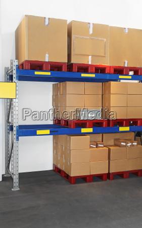 boxes at shelf