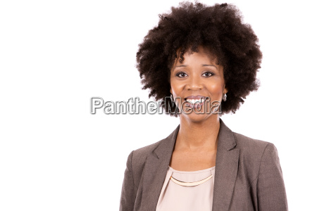 black casual woman on white background
