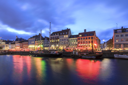 night view of the illuminated harbour