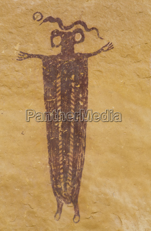 skeleton shaman head of sinbad pictograph