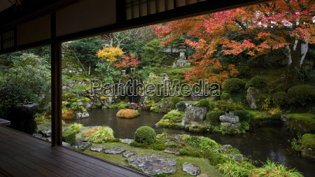 japanese garden in autumn ohara valley