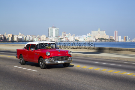 vintage 1956 buick on the malecon