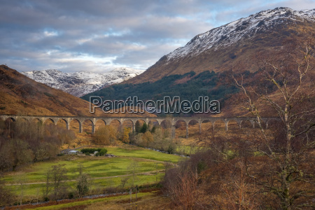 glenfinnan railway viaduct part of the