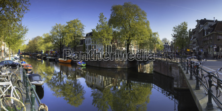 lijnbaansgracht canal amsterdam netherlands europe