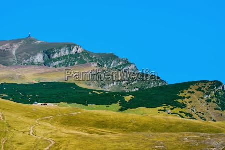 caraiman peak in the bucegi mountains