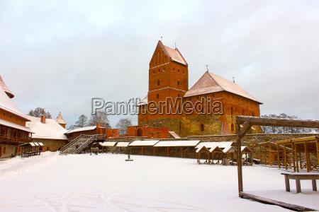 trakai castle in winter