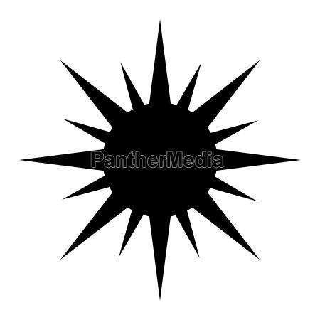 sun silhouette vector symbol icon design
