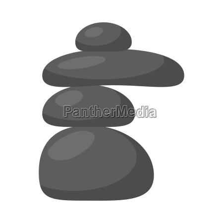 spa stones vector symbol icon design