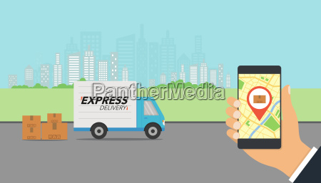 express delivery concept checking delivery service