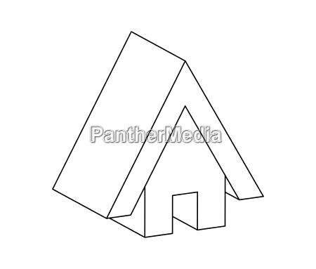 house web icon silhouette vector symbol