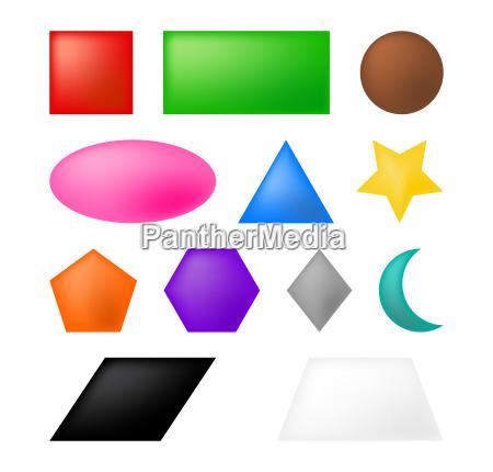geometric shapes vector symbol icon design