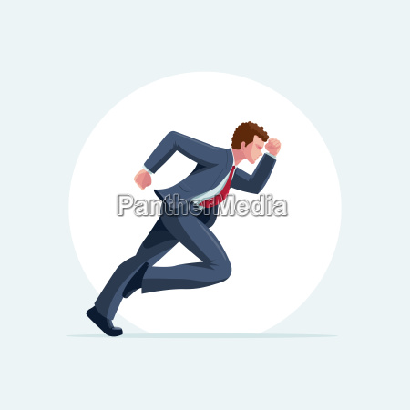runner man vector illustration
