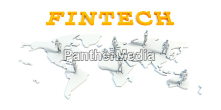 fintech concept with business team