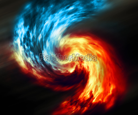 fire and ice abstract background
