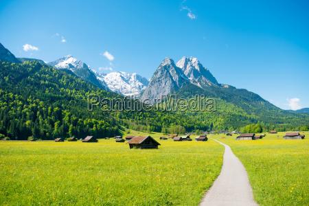 mountain panorama at garmisch partenkirchen