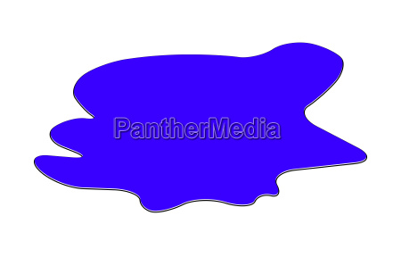 puddle of water spill clipart blue
