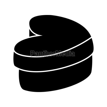 christmas valentines silhouette heart shape box