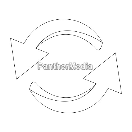 arrow symbol outline icon clipart cycle