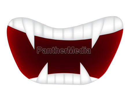 cartoon smile mouth lips with teeth