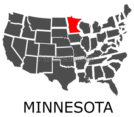 state of minnesota on map of