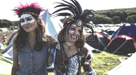 two smiling young women at a