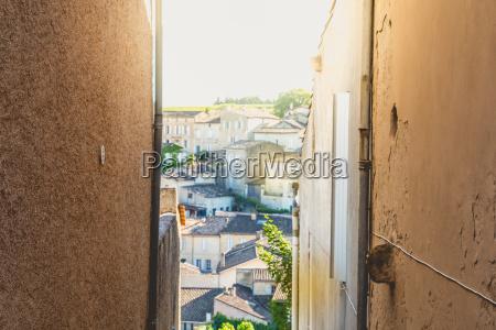 street atmosphere in an alley of