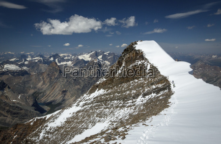 people standing on mount edith cavell