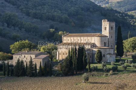 italy tuscany montalcino abbey of santantimo