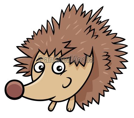 cartoon hedgehog animal character