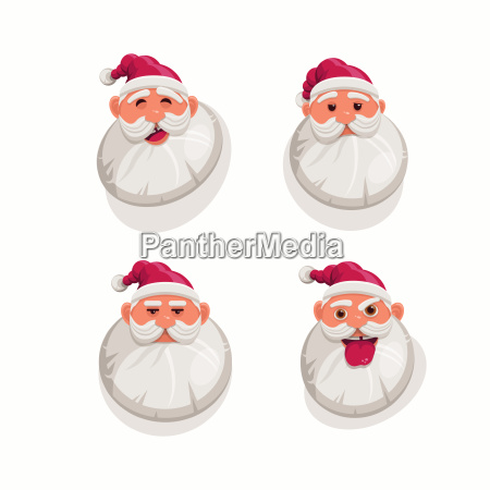 cartoon santa claus portrait