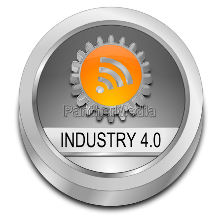 silver industry 40 button 3d