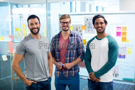 creative business team standing against the