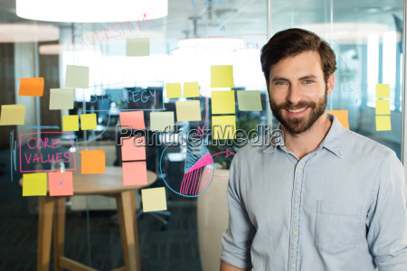 portrait of young confident businessman standing